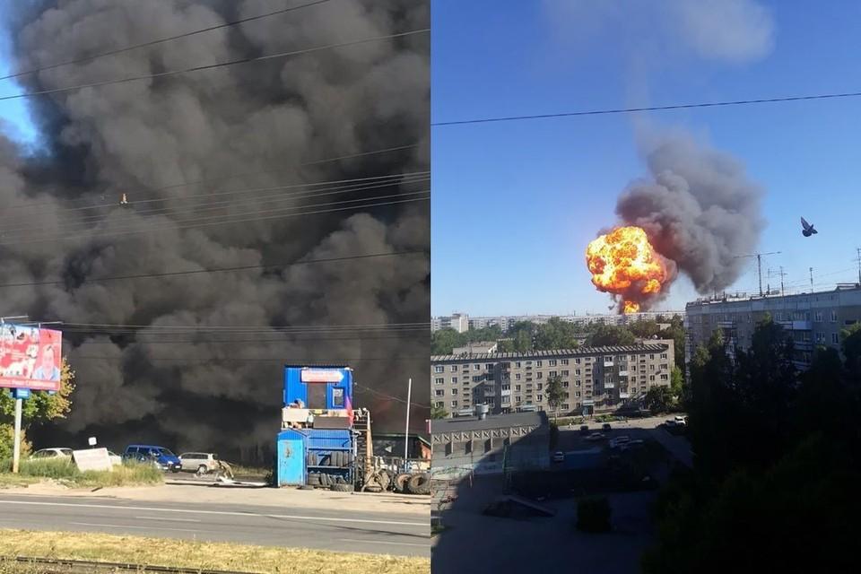 Появились видео и фото взрыва на заправке в Новосибирске 14 июня 2021 года. Фото: Евгений КОЧКИН\Ксения ПОЛТОРАНИНА