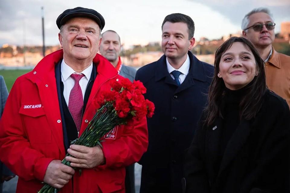 Геннадий Зюганов побывал в Нижнем Новгороде и представил предвыборную программу КПРФ. ФОТО: пресс-служба НРО КПРФ