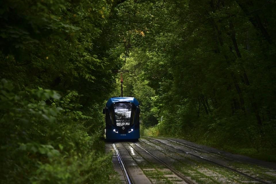 В городе продолжается модернизация трамвайных путей.