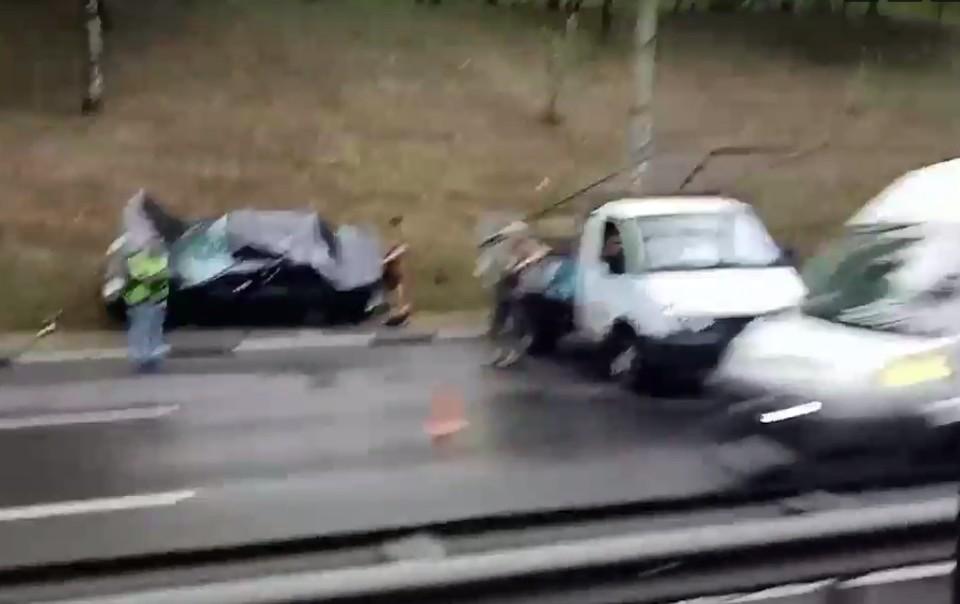 ДТП случилось на подъёме с Мызинского моста в Нижнем Новгороде 14 сентября