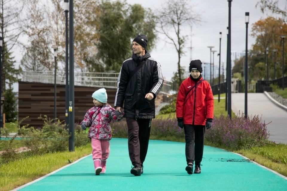 Новая спортзона на набережной - прекрасное место отдыха для всей семьи.