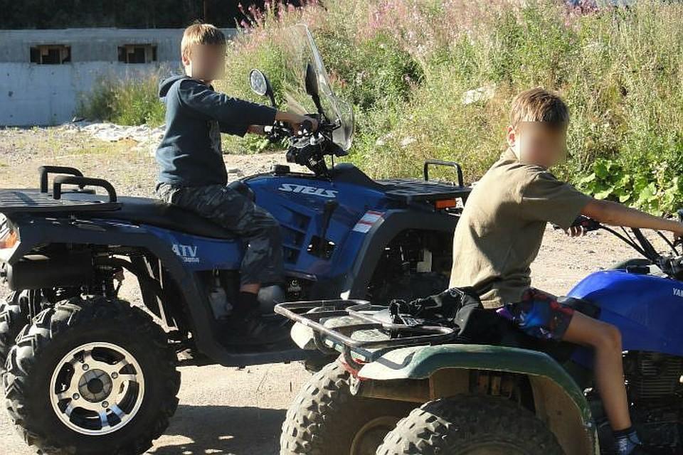 Опекун ни в чем не отказывал мальчикам: у них были даже собственные квадроциклы. Фото: оперативная съемка.